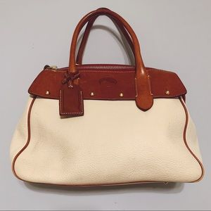 Dooney & Bourke Ivory Leather Tote